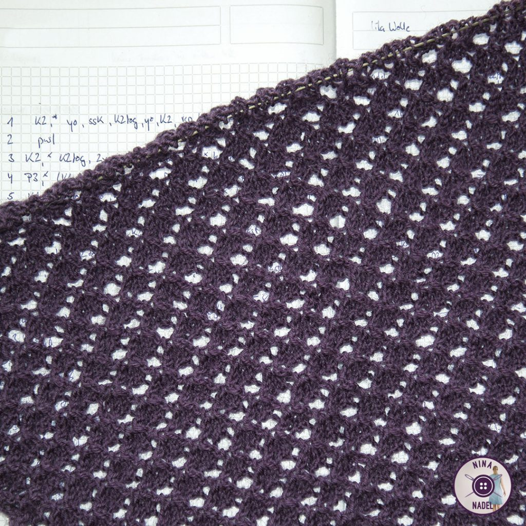 photo: knitted bolero in progress