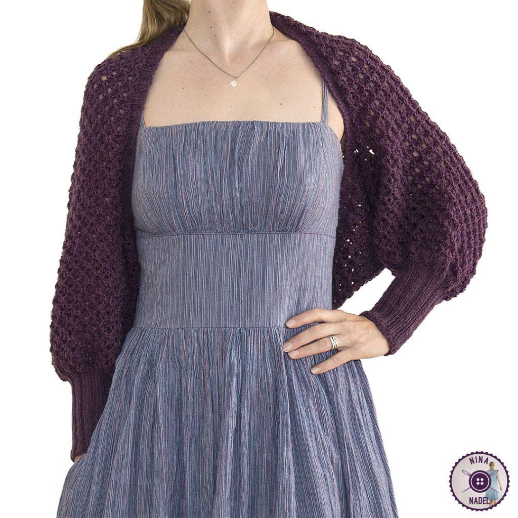 photo: knitted bolero   shrug MAGDA - front view 2