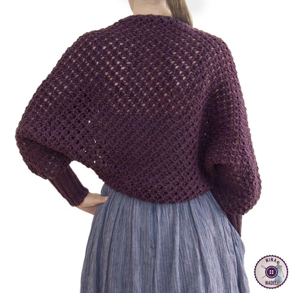 photo: knitted bolero   shrug MAGDA - back view