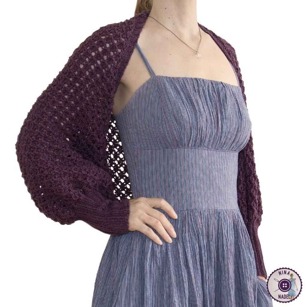 photo: knitted bolero   shrug MAGDA - side view