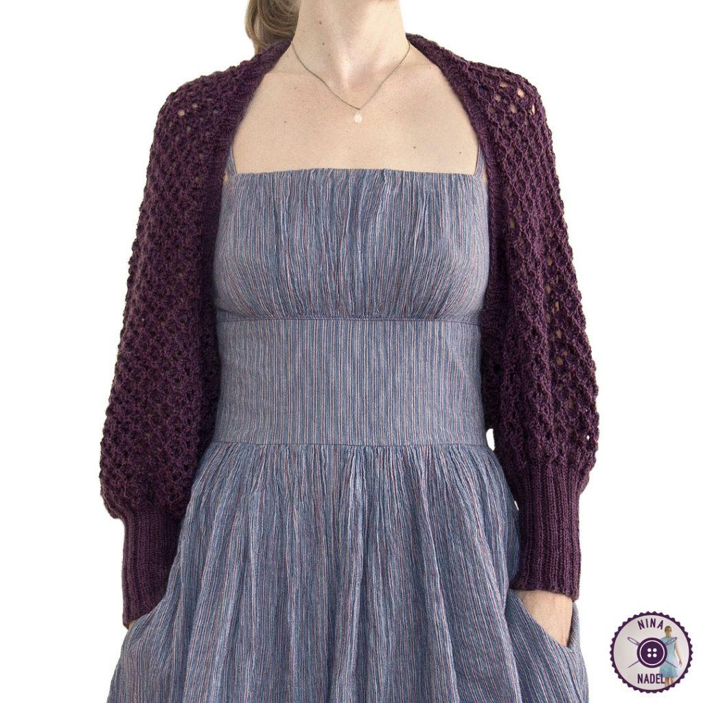 photo: knitted bolero   shrug MAGDA - front view