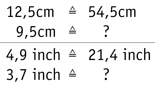 Rule of Three: How to calculate!